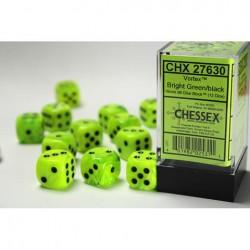 Boîte de 12 dés 6 * vortex * VERT CLAIR un jeu Chessex