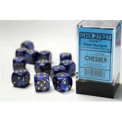 Pack 12 dés 6 Bleu Roi Chessex Annecy