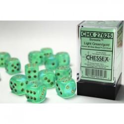 Pack 12 dés 6 Vert Clair Chessex Annecy
