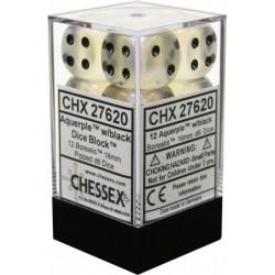 Pack 12 dés 6 Aquerple Chessex Annecy