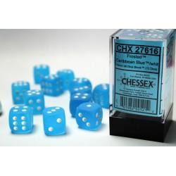 Pack 12 dés 6 Bleu Caraïbe Chessex Annecy