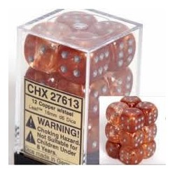 Pack 12 dés 6 Cuivre Chessex Annecy