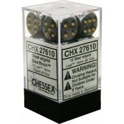 Pack 12 dés 6 Acier Chessex Annecy