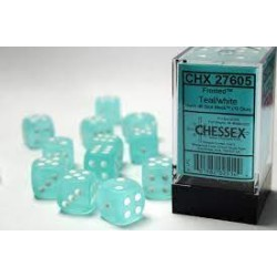 Pack 12 dés 6 Sarcelle Chessex Annecy