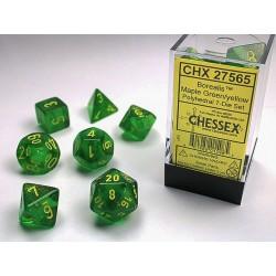 7 dés * Borealis * Maple Green un jeu Chessex