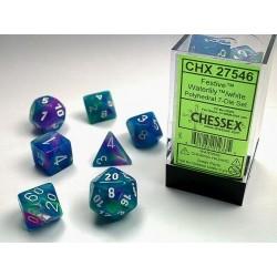 7 dés * Festive * Waterlily un jeu Chessex