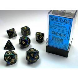 Pack 7 dés Shadow Chessex Annecy Jeu de Rôle