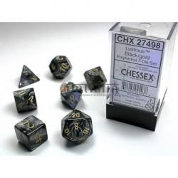 Pack 7 dés Noir Chessex Annecy Jeu de rôle