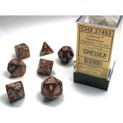 Pack 7 dés Or Chessex Annecy Jeu de Rôle