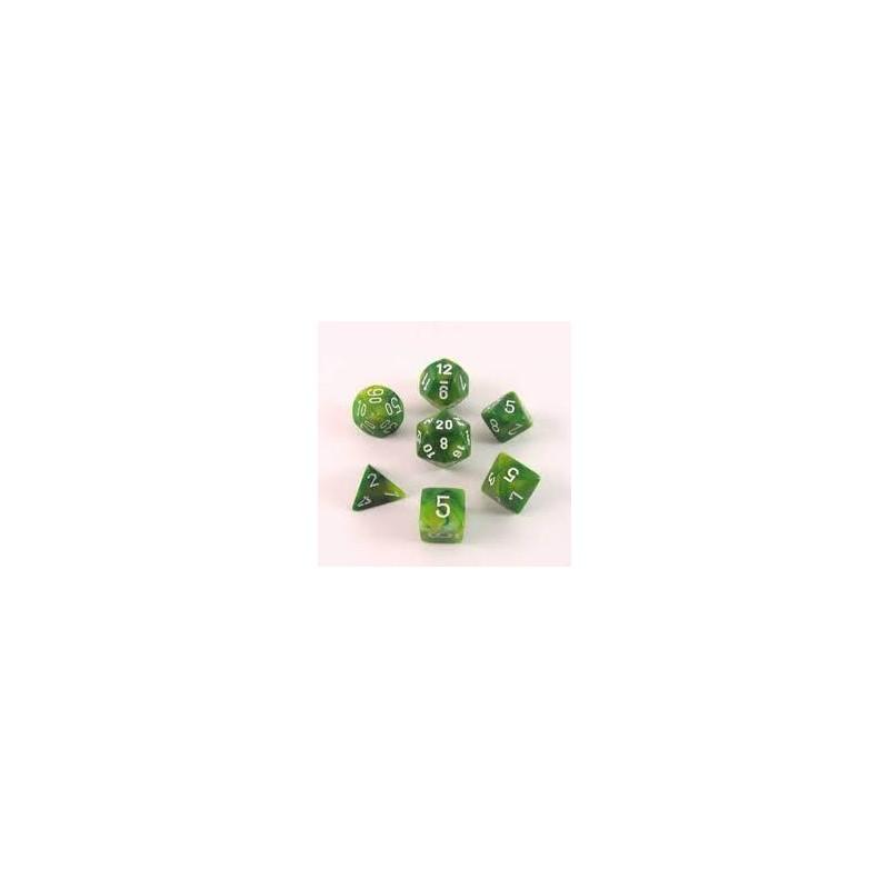 Pack 7 dés Vert Chessex Annecy jeu de Rôle