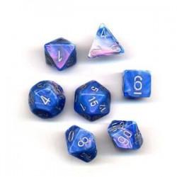 Pack 7 dés Bleu Chessex Annecy Jeu de Rôle
