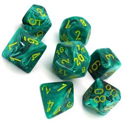 7 dés * vortex * Vert malachite un jeu Chessex