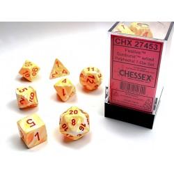 7 dés * Festive * Sunburst un jeu Chessex