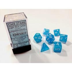 7 dés * cirrus * BLEU CLAIR un jeu Chessex