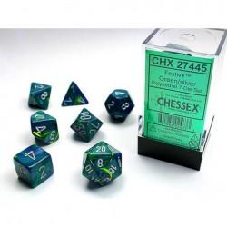 Pack 7 dés Vert Chessex Annecy