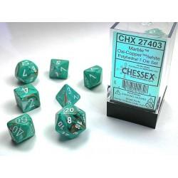 7 dés * Marble * Oxi Copper un jeu Chessex